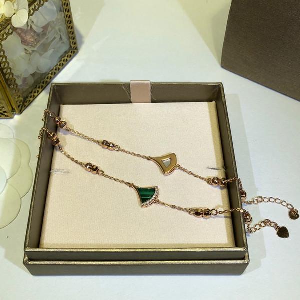 Chain bracelet Lady designer Jewelry Fashion Sweet style 925 Silver bracelet Fan pattern Water drill Design Decoration bracelet