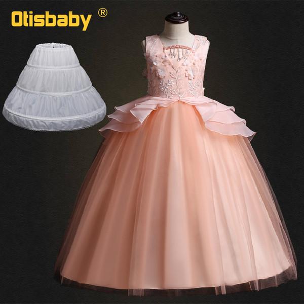 Vestiti Eleganti Bambina 12 Anni.Acquista Abiti Da Principessa Con Fiori In Pizzo Da Bambina Abiti