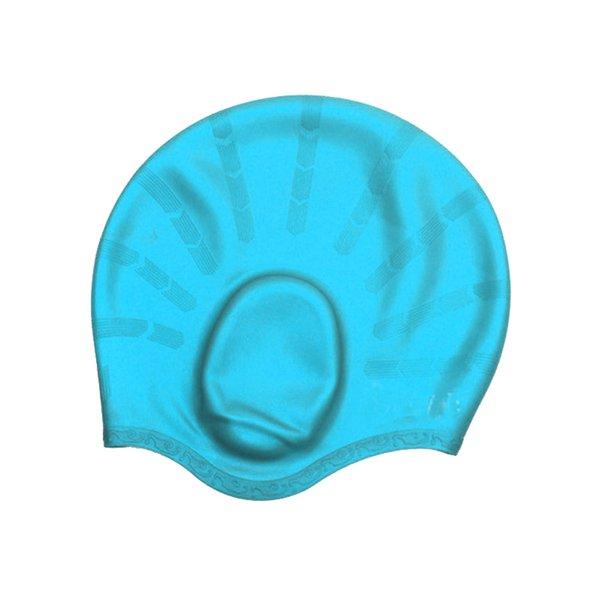 Взрослые Водонепроницаемый Плавательные Шапки Силиконовые Мужчины Женщины Высокой Упругой Сплошной Цвет Защиты Ушей Плавать Шапка YA88