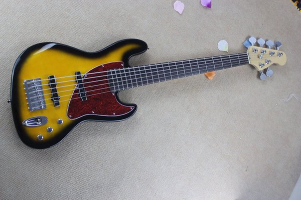 Free Shipping 2019 New Arrival New Style High Quality Custom F Sunburst 6 String Jazz Bass Guitar !!