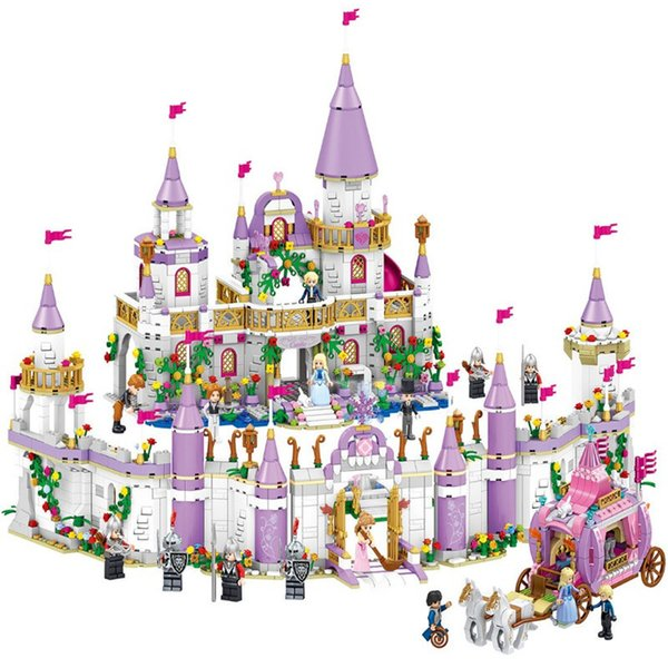 New Friends Princess Windsor's Castle And Carriage Diy Model Building Blocks Kit Toys Girl Birthday Christmas Gifts Y190606