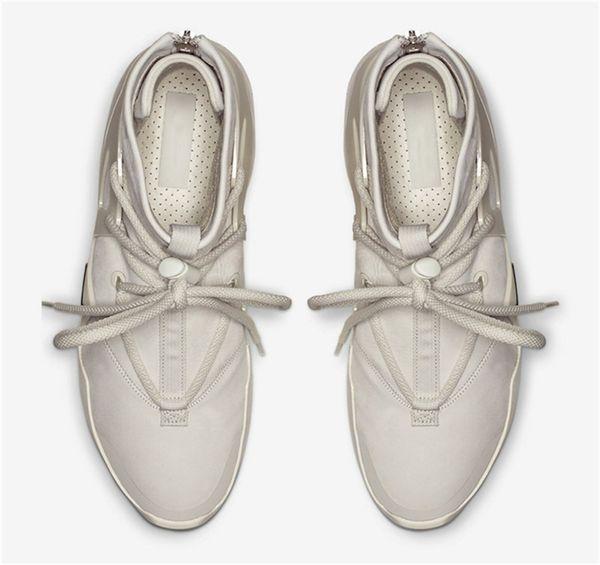 Neueste 2018 Authentic Air Fear of God 1 Stiefel Licht Knochen Grau Schwarz Zoom 1 S Männer Basketball Schuhe AR4237-001 AR4237-002 Sneakers Mit Box