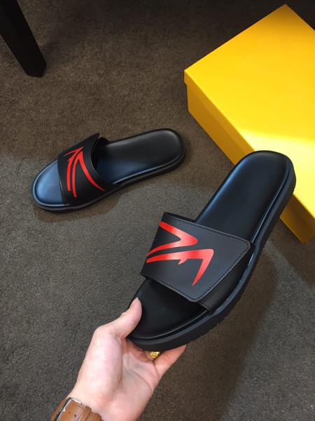 Top Uomini Donne Sandali scorrere del progettista scarpe di lusso di moda estate ampio appartamento Slippery sandali Marca Flip Flop con la scatola formato 38-44 B104742Y
