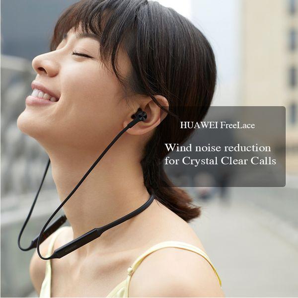 Orijinal Huawei FreeLace Kablosuz Kulaklık Bluetooth Spor su geçirmez kulak Bellek Kablosu Metal Kavite Silikon manyetik anahtar