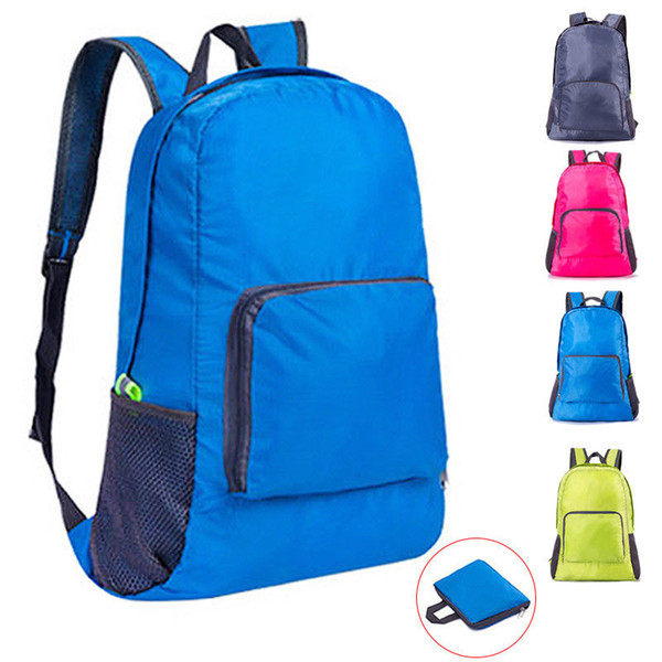 Foldable Outdoor Sports Gym Backpack Bag Nylon Travel Handbag Bags For Women Men