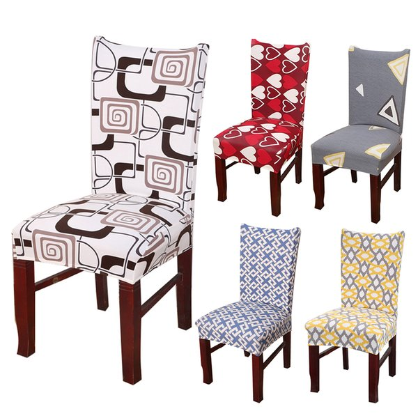 Pleasant Love Heart Chair Cover Washable Removable Big Elastic Seat Covers Geometry Printed Slipcovers Stretch Used Banquet Hotel Home Wedding Table Linens Gmtry Best Dining Table And Chair Ideas Images Gmtryco