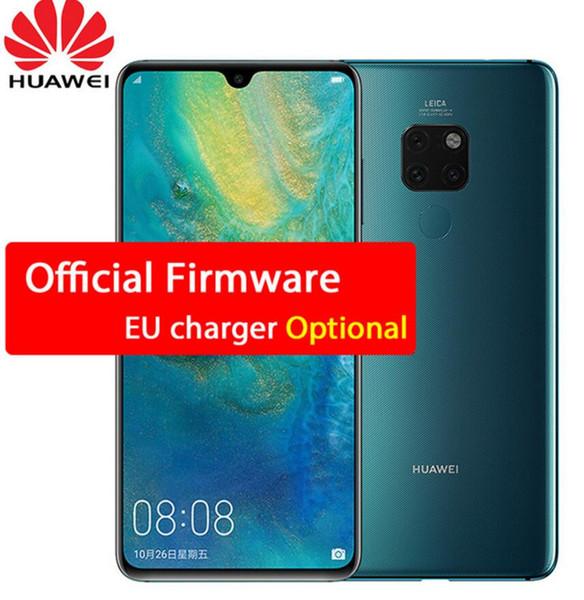 Nuevo original HUAWEI Mate 20 Smartphone 6,53 pulgadas Pantalla completa 2244X1080 Kirin 980 octa core Android 9 4000 mAh 4 * Cámara Super cargador 4.5V / 5A