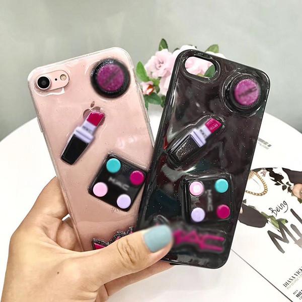 New Fashion 3D Sexy Cute TPU Case Lip Lady Phone Cases Glitter Soft TPU Phone Covers for iPhone 7 8PLUS XR X MAX