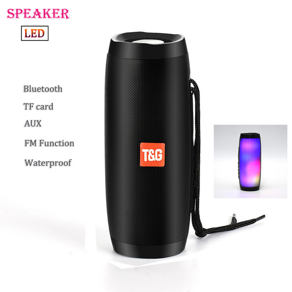 TG157 Portable LED Speaker Waterproof Bluetooth Speaker Wireless Speakers Mini Column Box Loudspeaker FM TF USB For cellphone Computer
