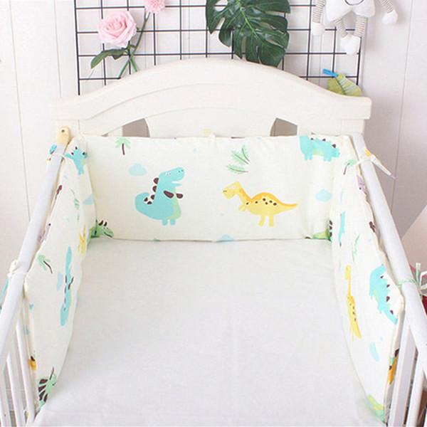 Bonito Dos Desenhos Animados Cama De Uma peça U / l Forma Berço Bumpers Recém-nascidos Protetor de Berço Almofada De Algodão Para Decoração Do Quarto Do Bebê 180 * 30 cm Q190530