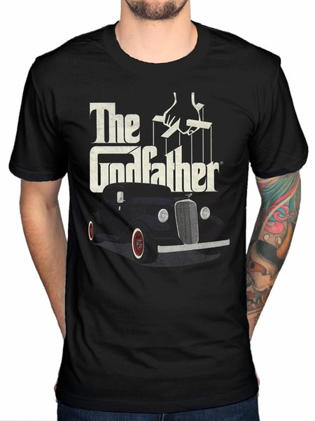 Official The Godfather Classic Car Logo T-Shirt Movie Mafia Fan Merch Pacino Funny free shipping Unisex Casual Tshirt top