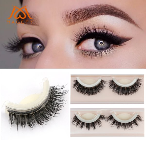 25e32c22427 MAGEFY 3D Mink False Eyelashes Extension Reusable Self-Adhesive Natural  Curly Eyelashes Self Adhesive Eye