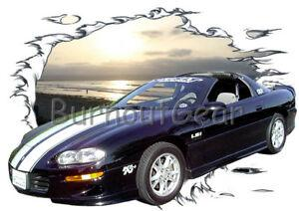 2000 BlaPrint Chevy Camaro Özel Sıcak Çubuk Güneş Seti T Gömlek 00 Kas Araba Tee 039 s