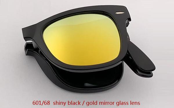 601/68 عدسة مرآة سوداء / ذهبية لامعة
