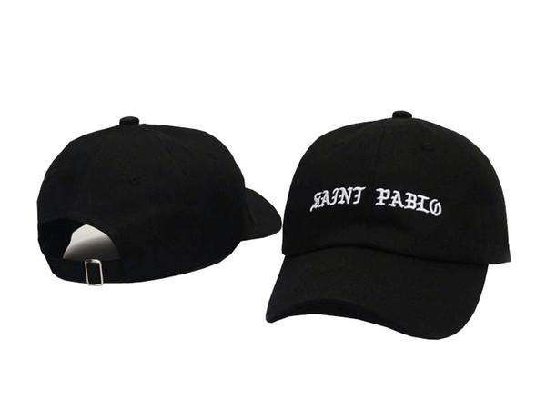 Saint Pablo Black Hat Strapback Cap Curved Snapback Caps Casquette Bone Hats For Men Women Chapeau Plain Visors Bented Hat