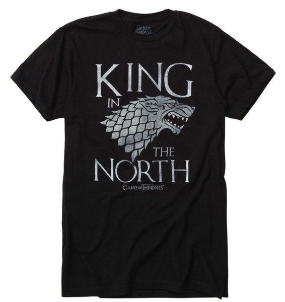 König In The Stark Direwolf T-Shirt Nwt Lizenzierte Offizielle Fashion 2019 Summer New Brand