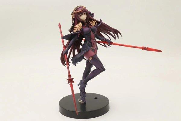 20cm Fate Grand Order Lancer Scathach Figure Action Figure Pvc Toys Collection Doll Anime Cartoon Model For Friend Gift Y190604