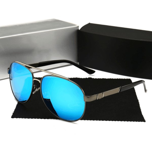 751 Luxury Sunglasses For Men With Coating Mirror Lens UV Protection Fashion Men Designer Vintage Oval Frame Top Quality Come With Case