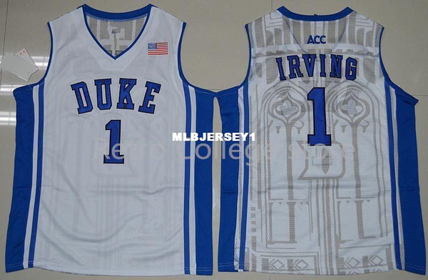 free shipping ce8c9 c09da 2019 #1 Kyrie Irving Jersey Duke Blue Devils Top Jers Retro Top Jersey New  Material Top Quality Embroidery Jersey Vest Jerseys Baseball From ...