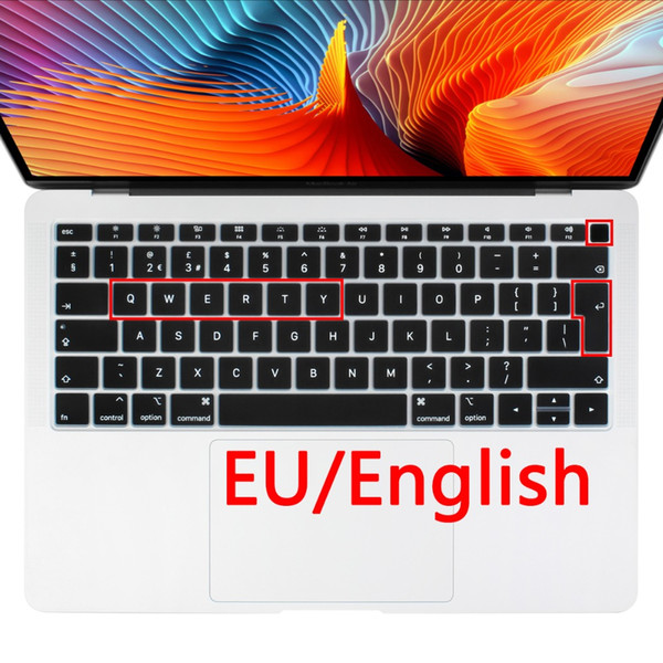 "EU layout English keyboard Cover for Macbook 2018 A1932 Dust Proof Keyboard Skin For Macbook .3"" Newest Version"
