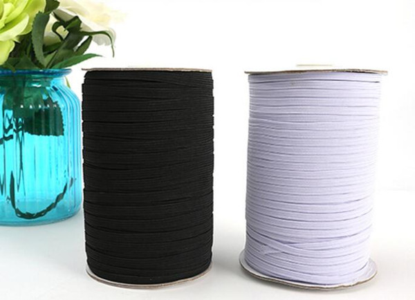 best selling 200yards  Black and White Nylon elastic bands quality elastic belt 1 8 Skinny Elastic 3mm Width for garment trousers sewing accessories DIY