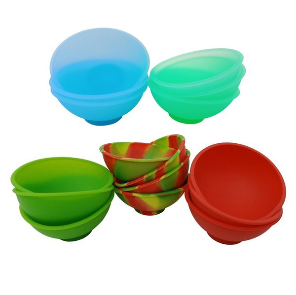 Brand New 10X Non stick Silicone Wax Container FDA Bho Wax Jars Silicone Pinch Bowl For Slick Butane Oil Concentrate Dabs FREE SHIPPING