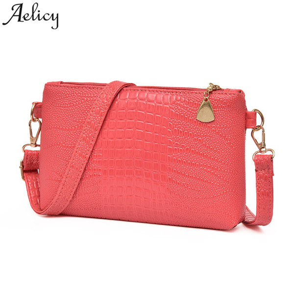 Cheap Aelicy 2019 women crossbody bag Vintage Handbag Crocodile Pattern Shoulder Bag Tote Handbag Lady Luxury designe