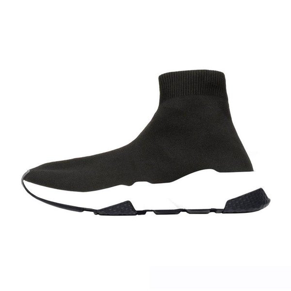 lace-up Luxury Designer casual sock Shoes lace up Speed Trainer Brand Red Triple Black Brand Fashion Socks Trainer sport Sneakers 36-45 c25