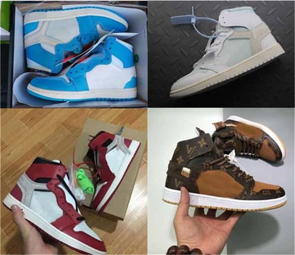 best selling 1S Casual shoes off Mens Chicago red Sneakers women designer shoes Green white Black trainers Sport Shoes size 36-47