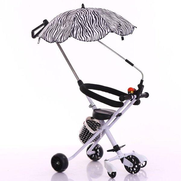 Baby Artefakt Leichte, tragbare Kinderwagen Dreirad Folding 2-6 Fünfrädern Auto Regenschirm Kinderwagen