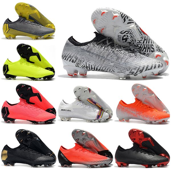 Neymar 2019 Mens Low Ankle Football Boots CR7 Mercurial Vapors XII VII Elite FG Soccer Shoes Superfly 360 ACC Soccer Cleats