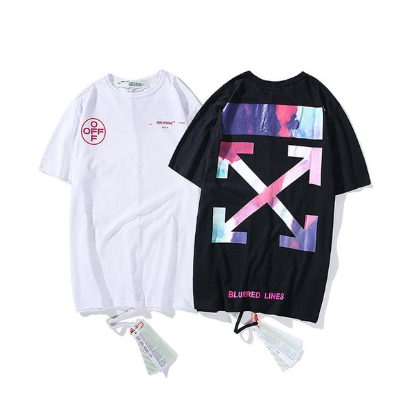 2019 summer new fashion explosion models limited edition cotton rendering material large size loose short-sleeved T-shirt 704