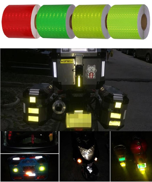 best selling 10CM*45M Car Van Schoolbus Decoratiive Sticker High Light PVC Reflective Self-adhesive Tape Road Traffic Warning Sign Highlight Safety Tapes