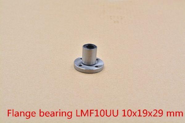 LMF10UU 10mm x 19mm x 29mm 10mm yuvarlak flanş rulman burç 10mm çubuk yuvarlak mil cnc bölümü için 1 adet