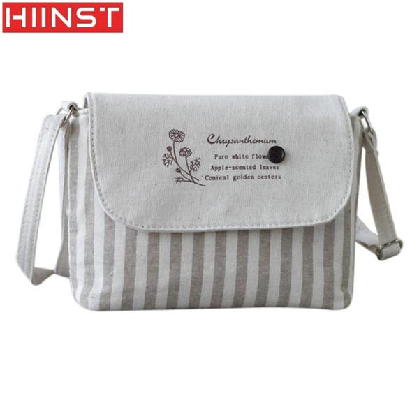 Cheap Best Women Fresh Striped Girls Shoulder Bags Cotton Bags Small Crossbody Bag Designer Purses Handbags MAY14