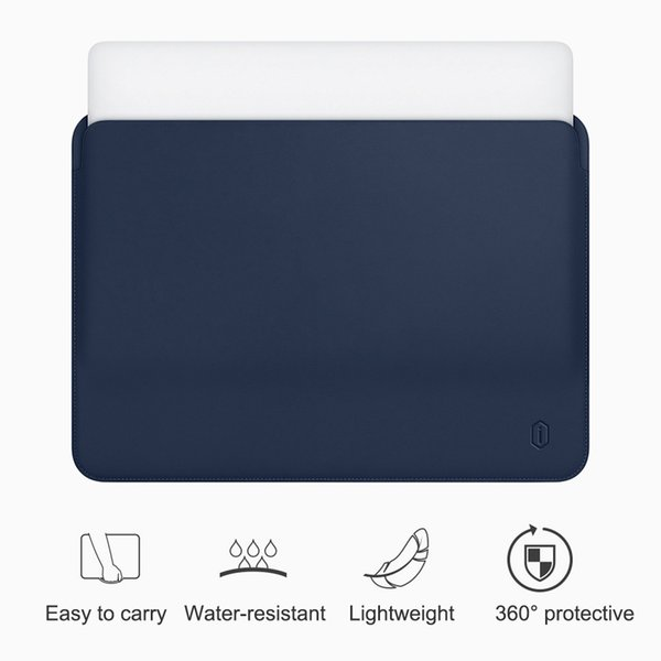 WiWU Laptop Sleeve for MacBook inch Water-resistant PU Leather Case for MacBook Pro 13 15 Inch Ultra-slim Laptop Bag Case