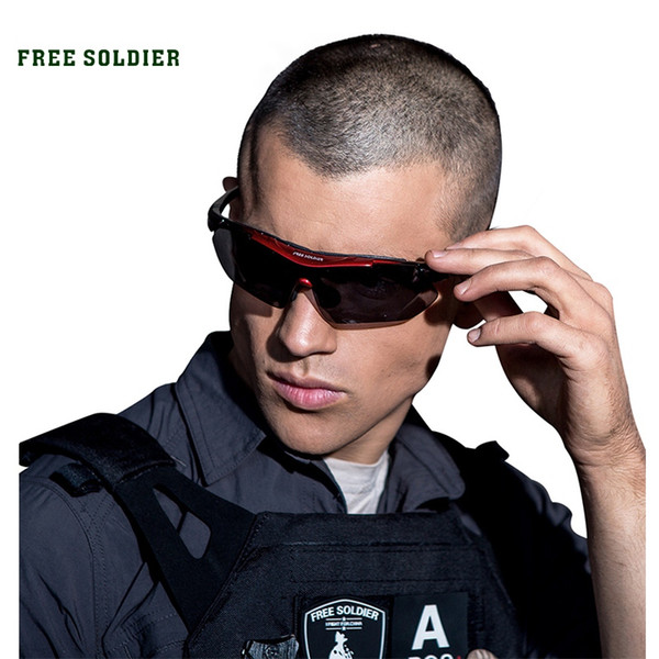 FREE SOLDIER Outdoor Sports Tactical Polarized Glass Men's Shooting Glasses Airsoft Glasses Myopia For Camping Hiking Cycling #69806
