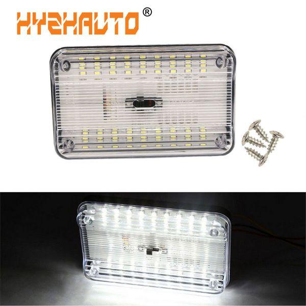 lâmpada acende sinal barato HYZHAUTO Universal 12V 36 LED Car Interior Telhado Teto Tronco Dome Reading Lamp Branco automóvel noite Luz 6000K