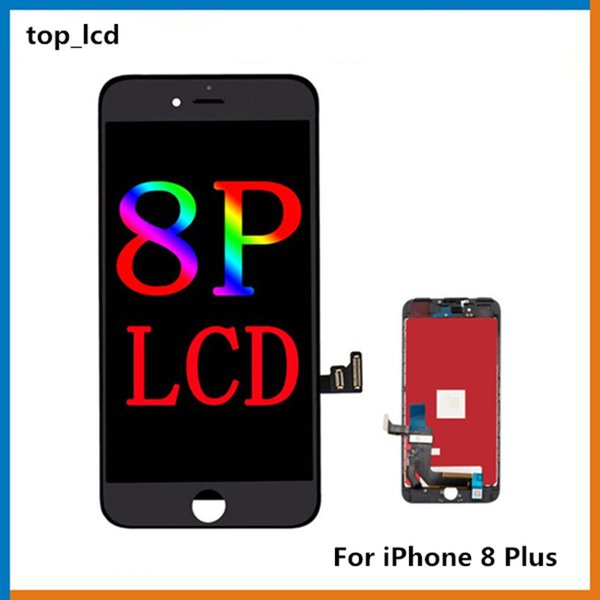 100% Original LCD For iPhone 8+ iPhone 8 Plus LCD Display Touch Digitizer Complete Screen with Frame Full Assembly Replacement via Free DHL