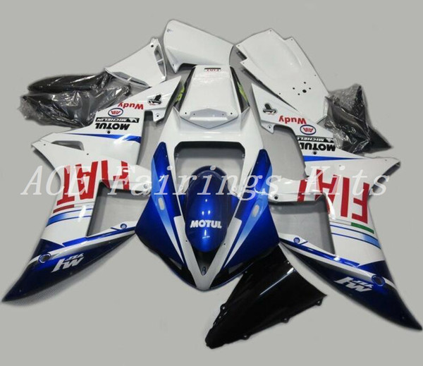 3 Free gifts High quality New ABS motorcycle fairings fit for YAMAHA YZF R1 2002 2003 R1 02 03 YZF1000 fairing kits custom blue white FIAT