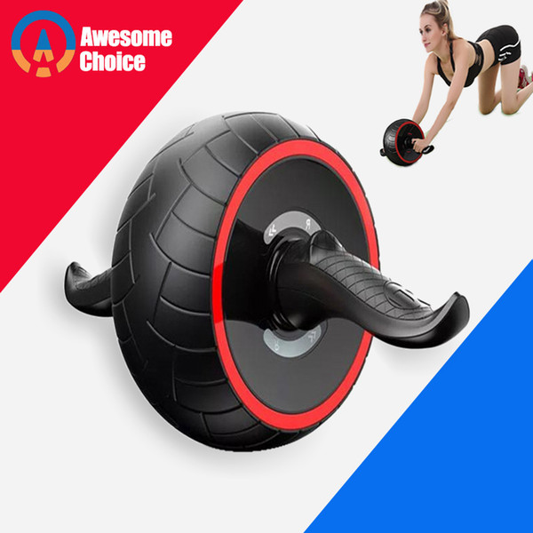 top popular ABS Abdominal Roller Exercise Wheel Fitness Equipment Mute Roller For Arms Back Belly Core Trainer Body Shape Training Supplies 2021