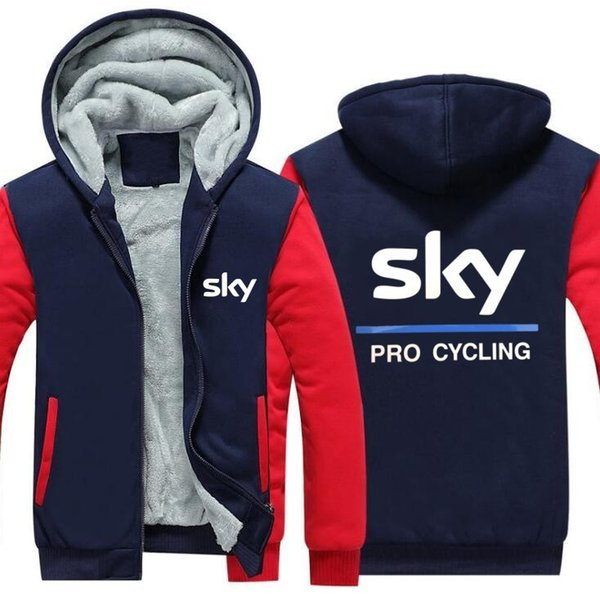 2019 High Quality Cotton Fashionable Hooded Jacket Wholesale team sky sky team double layer plus velvet thick zipper