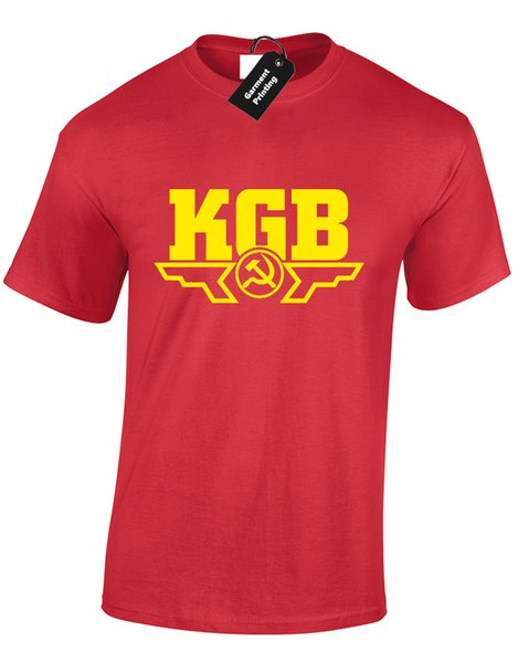 KGB MENS T-SHIRT COOL RUSSIAN SPY RUSSIA CCCP SOVIET UNION POLICE CHE GUEVARAFunny free shipping Unisex Casual Tshirt top