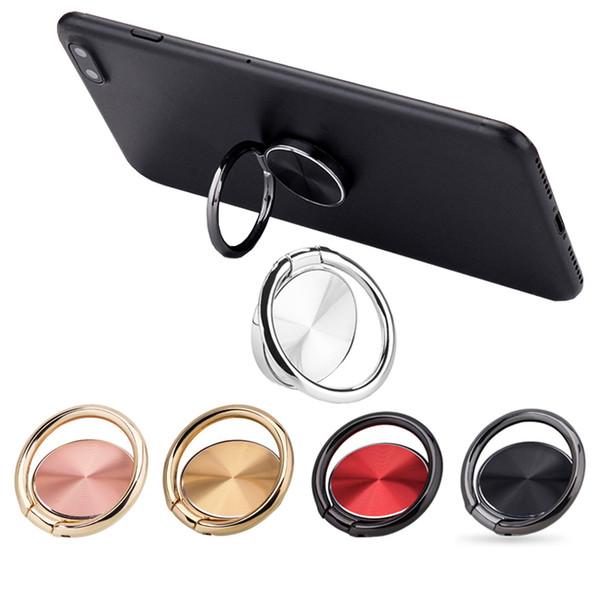 Evrensel parmak tutucu cep telefonu halka araba masası standı tutucular için tutun tüm akıllı cihaz için manyetik araç montaj braketi asabilirsiniz PED