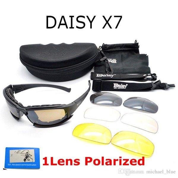 Óculos de sol do exército óculos de sol dos homens tático margarida x7  óculos de sol do sexo masculino 4 lente kit para homens jogo de guerra  tático óculos 25d45a284e