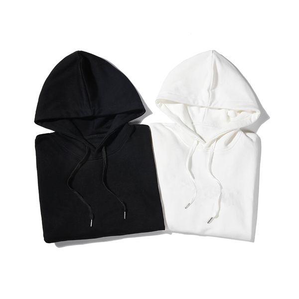 Con capucha caída del diseñador del invierno del puente regular la camiseta de lujo de la marca 2 colores Negro Blanco B102106Z Moda