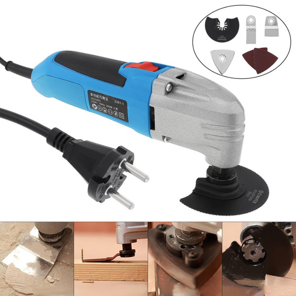280W 220V Hand-held Multi-function Electric Trimming Oscillating Machine Cutting Tool for Woodworking / Plishing / Trepanning