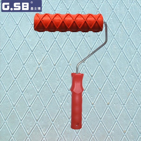 """Free shipping Rubber roller 7""""inch paint rubber roller for wall decoration model Reliefs paint NO.153 tool"""