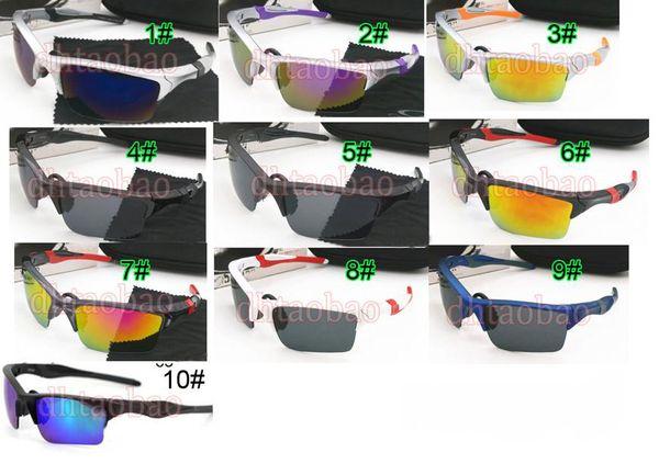 MOQ=10 newest 10 color dazzle colour Fashion sunglasses Cycling designer Outdoor Sports Sunglasses man driving SUN GLASSE 2.0 free shipping