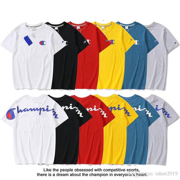 T-shirt de style nouveau, coton tendance de haute qualité, unisexe, marque populaire T-shirt Je suis le chemisier à imprimé champion